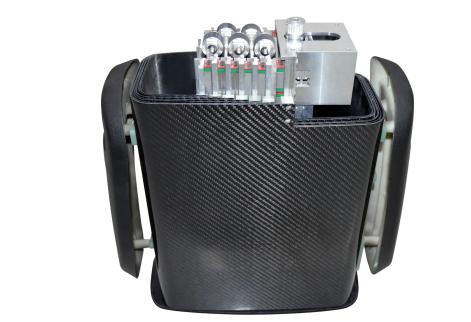 电网巡检机器人碳纤维套管式机械臂