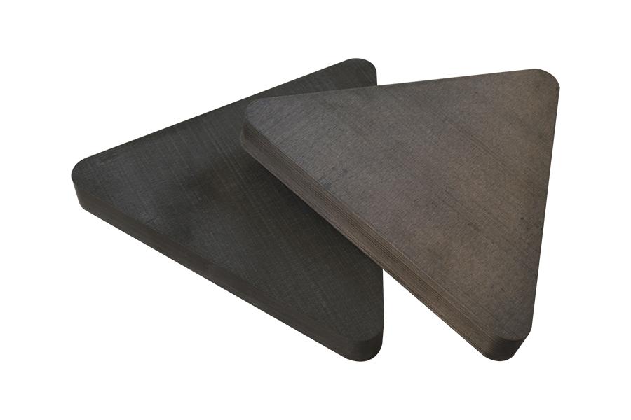 飞机零部件热塑性碳纤维三角板