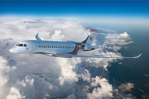 """达索航空推出碳纤维机翼""""隼""""10X公务机"""