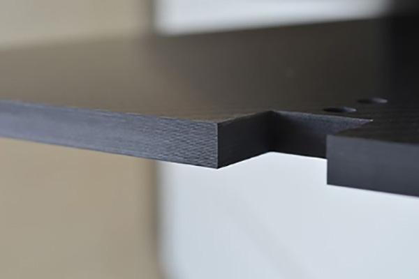 CF/PEEK板定制加工_碳纤维增强热塑性聚醚醚酮板材