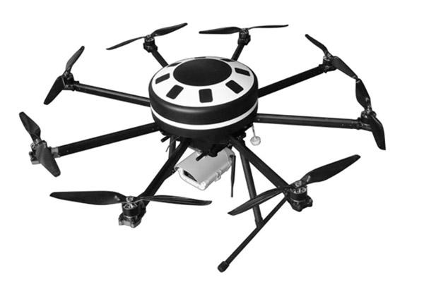 八轴拍摄用无人机碳纤维圆形机壳